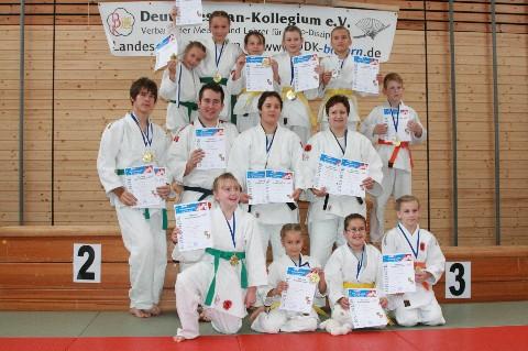 Gruppenbild der Sieger Katameisterschaft 2010